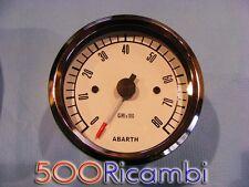 FIAT 500 F/L/R EPOCA CONTAGIRI LOGO ABARTH STRUMENTO CRUSCOTTO 80 FONDO BIANCO