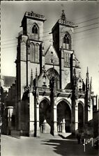 Semur en Auxois Cote d'Or France CPA ~1950/60 L'Eglise Notre Dame Kirche Portal