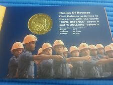 1991 Singapore Civil Defence Uncirculated $5 Cupro-Nickel Commemorative Coin