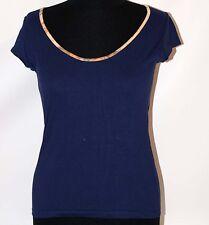 Prima Classe maglia blu mappa t shirt manica corta Alviero Martini L