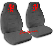 Hatchet Boy Car Seat Covers Charcoal Gray and Red choose colors
