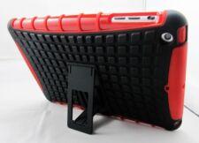Red Heavy Duty Tradesman Tough TPU Case Cover Stand for iPad Mini 2 Retina
