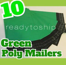 10 GREEN Poly Mailers 6X9 Shipping Envelopes RED BLUE PINK PURPLE WHITE GREEN
