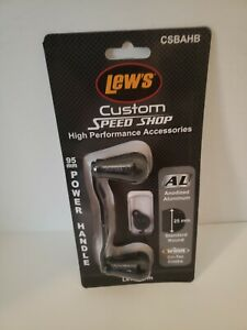 Lew's - Custom Speed Shop - Aluminum Handle Kit 95mm Handle Black CSBAHB NEW
