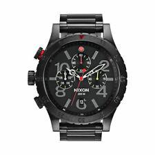 Nixon Watch Mens 48-20 Chrono All Black Multi A486-1320 A4861320
