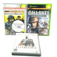 Call Of Duty Finest Hour Hitman 2 Counterstrike Microsoft Xbox 3 Pack Tested