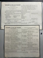 Souther Rhodesia 1937 Airmail Time Tables Empire Airmail Scheme Leaflet Document