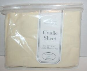 """American Baby Company 100% Cotton Jersey Knit 18""""x 36"""" Cradle Sheet - Off White"""