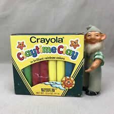CRAYOLA Vintage 1984 Claytime Clay Blue Yellow Red Green