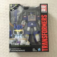 Hasbro Transformers Generations Titans Return Soundwave and Soundblaster New NIB