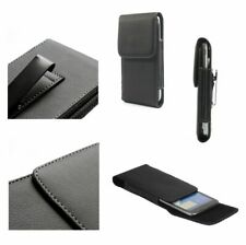 for Nokia Lumia 505 Case Metal Belt Clip Synthetic Leather Vertical Premium