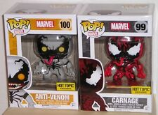 FUNKO POP Marvel ANTI-VENOM #100 & CARNAGE #99 Exclusive Figures MIMB IN STOCK