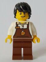 LEGO CITY Barista - Male, Reddish NEW origi LEGO 60233 - cty1048 minifigures GB2