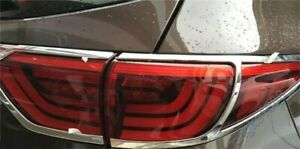 Chrome Rear Tail Light Lamp Frame Cover Trim Fits For KIA Sportage KX5 2016 2017