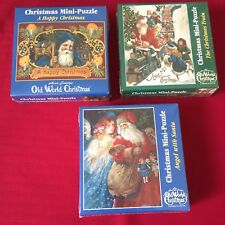 3 Old World Christmas Mini Puzzles 100+ pcs New Sealed 1999
