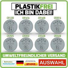 VARTA Knopfzellen CR1220 - CR2450 Batterien 100% Plastikfrei