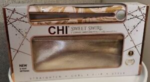 "New CHI Sweet Swirl 1"" Ceramic Hairstyling Flat Iron With Free Thermal Clutch"