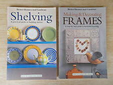 2 x BH&G Mini Workbooks~Shelving & Making & Decorating Frames~2 x 64pp P/B