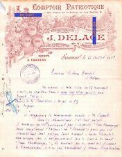 Beau Document du 23/07/1918 DELAGE Comptoir Patriotique - boissons - Saumur 49