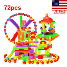 Us 72Pcs Building Blocks City Diy Creative Bricks Educational Toy Gift For Child