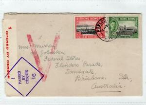 HONG KONG: 1941 Censored cover to Australia (C65116)