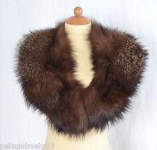 K214 Silberfuchs Stola Fuchs Pelz Pelzkragen Fur Fox Collar Лисий воротник Piel