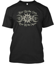 Printed Live By The Sun - Love Moon Standard Unisex Standard Unisex T-shirt