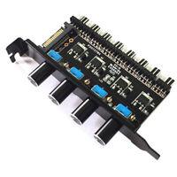Pc 8 Channels Fan Hub 4 Knob Cooling Fan Speed Controller For Cpu Case d Vg E4N7
