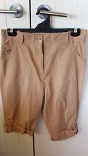 Damart light brown anywear 3/4 ladies pants Size 14