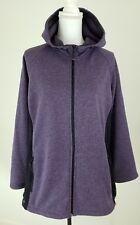 Ideology~Women's Plus Size 2X~Purple/Black Montana Full Zip Hooded Jacket NWT.