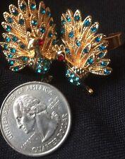 AAA CZ Peacock Shape Ring 9K Gold Filled Women 8-10 Adjustable Sz 8 Jewel Gift