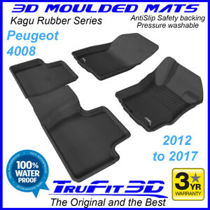 Fits Peugeot 4008 2012 - 2017 TruFit 3D Kagu Rubber Car Floor Mats