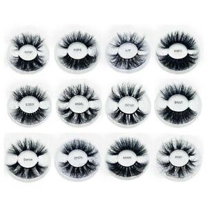 8D Mink Eyelashes Long Thick Fluffy Fake Lashes Natural Curly Eyelash Extension