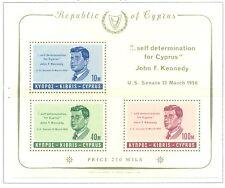 J.F. KENNEDY - CYPRUS 1965 block