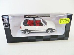 NEWRAY '1993 VW GOLF CABRIOLET' CREAM/WHITE. 1:43. MIB/BOXED.