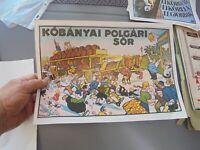 1979 Affiche publicitaire Char à Bière KÖBÄNYAI POLGÄRI SÖR Földes-Kell Budapest