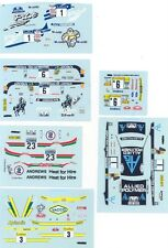 LOT DECALS 1/43 FORD ESCORT PART 2 - COLORADO  DCV023