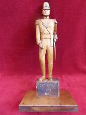 LARGE HAND CARVED WOODEN SCULPTURE - SOLDIER OF THE 49TH REGIMENT OF FOOT 1813