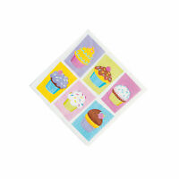 Cupcake Sprinkles Beverage Napkins - Party Supplies - 16 Pieces