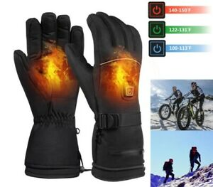 Electric Heated Gloves Warm Hand Waterproof Touchscreen Battery Motorcycle Sport