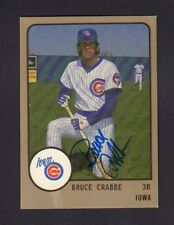 Bruce Crabbe 1988 Iowa Cubs Autographed Signed w/COA jh55