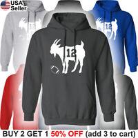 GOAT Hooded Sweat Shirt Tom Brady Hoodie Tampa Bay Buccaneers Sweatshirt TB Bucs