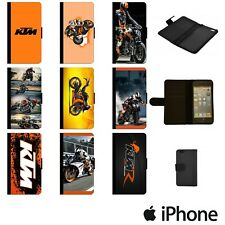 KTM MOTORBIKE MOTOGP BIKE DUKE FLIP WALLET PHONE CASE COVER APPLE iPhone KTMW00