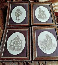Set Of 4 Pictures Hand made in Cornwall