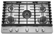 "NEW KitchenAid KCGS550ESS 30"" 5-Burner Gas Cooktop w/ 17K BTU Dual Ring Burnger"