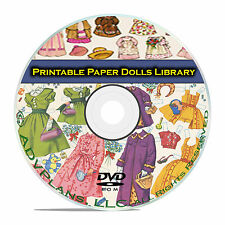 Vintage Printable Paper Dolls, 2,000 included, McCall, Victorian Doll Cd Dvd B63