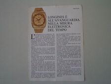 advertising Pubblicità 1972 LONGINES