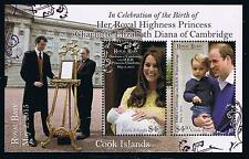 Cook Islands 2015 Royal Baby Charlotte Postage Stamp Souvenir Sheet Issue