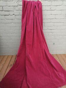 vintage dusky pink velour velveteen door curtain 90 w x 85 d in winter interior