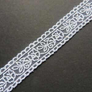 3,60m Stickbordüre 2cm breit weiß